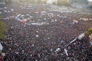 Crowds in Cairo's Tahrir Square